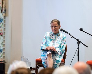 Justice Ginsburg Speaking at Glimmerglass. Photo Karli Cadel.
