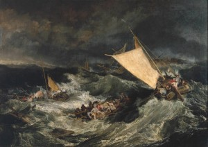The Shipwreck exhibited 1805 by Joseph Mallord William Turner 1775-1851