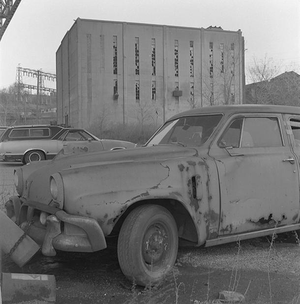 Studebaker in Bondage, Cleveland. Photo © 1991 Michael Miller.