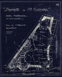 Hôtel Guimard (1912), plan du 1er étage. Photo © 2012 Alan Miller.