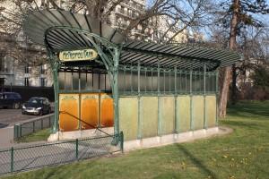 Métro Porte Dauphine (1900). Photo © 2012 Alan Miller.