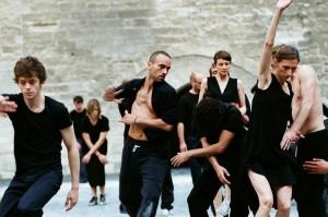 Rosas during performance of Cesena at the Palais des Papes in Avignon. Photo © Anne Van Aerschot.