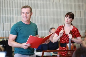 Paul Dyer and Madeleine Easton in rehearsal. Photo by Steven Godbee.