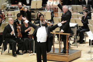 Jermaine Smith as Sportin' Life in Porgy and Bess with Bramwell Tovey conducting the BSO. Photo Stu Rosner.