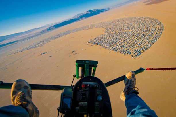 Maxwell Mackenzie, Burning Man from the Air
