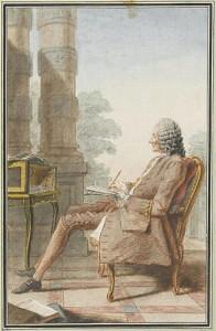 """Louis Carrogis, called Carmontelle. """"Mr Rameau' 1760. Musée Condé, Chantilly."""