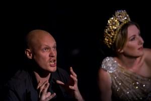 Jeffrey Thompson as Castor and Celeste Lazarenko as Télaîre in the Pinchgut Opera's Pollux & Castor. Photo by Simon Hodgson.