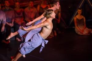 Sean Marcs and Adam Murray dance in the Pinchgut Opera's Pollux & Castor. Photo by Simon Hodgson.