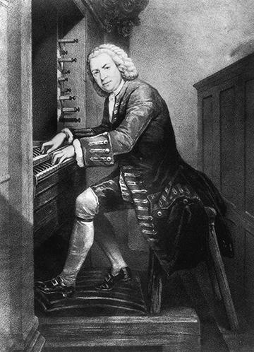 J. S. Bach playing the organ