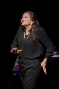 Annette Miller as Maria Callas in Masterclass at Shakespeare and Company. Photo Kevin Sprague.
