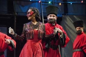 Nafeesa Monroe (Rosaline), Mark Bedard (Berowne). Photo by Kevin Sprague.