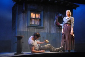 """Derek Wilson and Rebecca Brooksher in the Berkshire Theatre Group's production of """"Anna Christie."""" Photo by Abby LePage."""