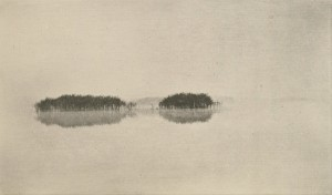 The Lone Lagoon by P. H. Emerson, c. 1890, from 'Marsh Leaves.' Photogravure print ca. 1890 / print ca. 1895