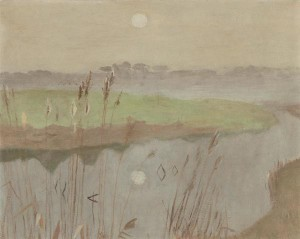 Marsh II by Mary Potter. 41cm by 51 cm, UK Goverment Art Collection, London. © Estate of the Artist.