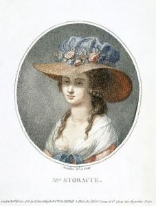 Portrait of Nancy Storace, circa 1788 by Pietro Bettelini.
