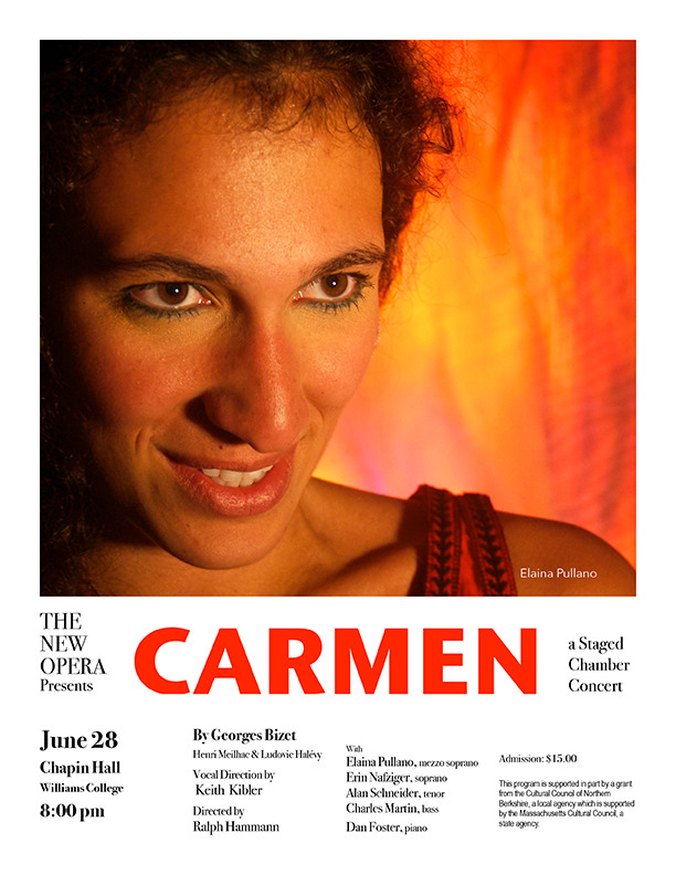 The New Opera to Present Bizet's Carmen at Chapin Hall, Williams College, June 28 at 8 pm