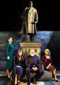 Lear and his Daughters at the National Theatre.