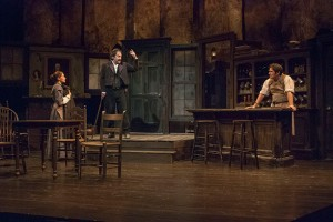 Madeline Calandillo, David Adkins, and J. Andrew Young in POE. Photo Christina Riley.