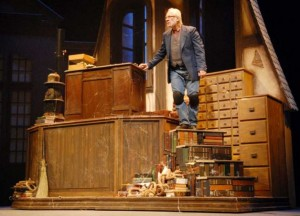 Ron Komora as Scrooge at the Theatre Institute at Sage (2011 photo).