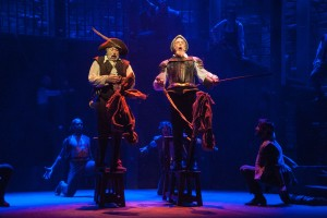 Man of La Mancha at Barrington Stage Company. L to R: Tom Alan Robbins and Jeff McCarthy. Photo Kevin Sprague.
