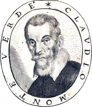 """Claudio Monteverdi, engraving, from """"Fiori_poetici,"""" 1644"""
