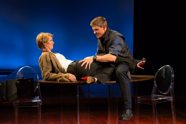 Cynthia Nixon and Chris Lowell in Carey Perloff's Kinship. Photo T. Charles Anderson.