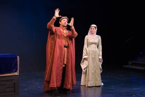 Ryan Winkles and Caroline Calkins in Shakespeare and Company's 'Henry V'. Photo by John Dolan