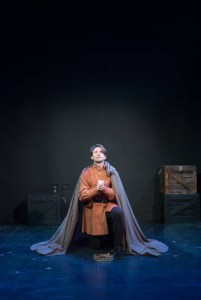 Ryan Winkles as Henry V in Shakespeare and Company's procuction. Photo by John Dolan.