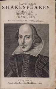 William Shakespeare's First Folio,1623: Title Page