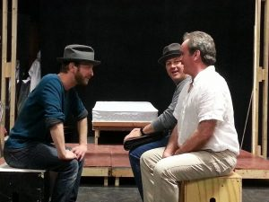 """A Scene from """"The 39 Steps"""" at the Oldcastle Theatre Company"""