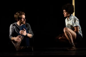 Alex Hanna and Camila Canó-Flaviá in My Jane, at the Chester Theatre Company.