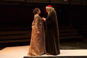 Kate Abbruzzese and Jonathan Epstein. 'The Merchant of Venice.' Shakespeare & Company 2016. Photo John Dolan.