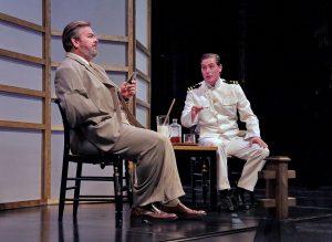 Weston Hurt as Sharpless and Jason Slayton as Pinkerton in Madama Butterfly. Photo Ken Howard.