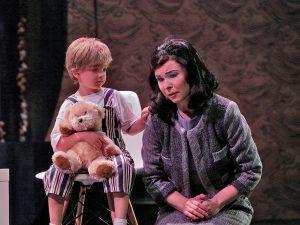 Inna Los as Cio-CIo-San and Lily Sheperdson as Sorrow, her boy. Photo Ken Howard..