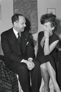 Georg Gyssing with Leni Riefenstahl.