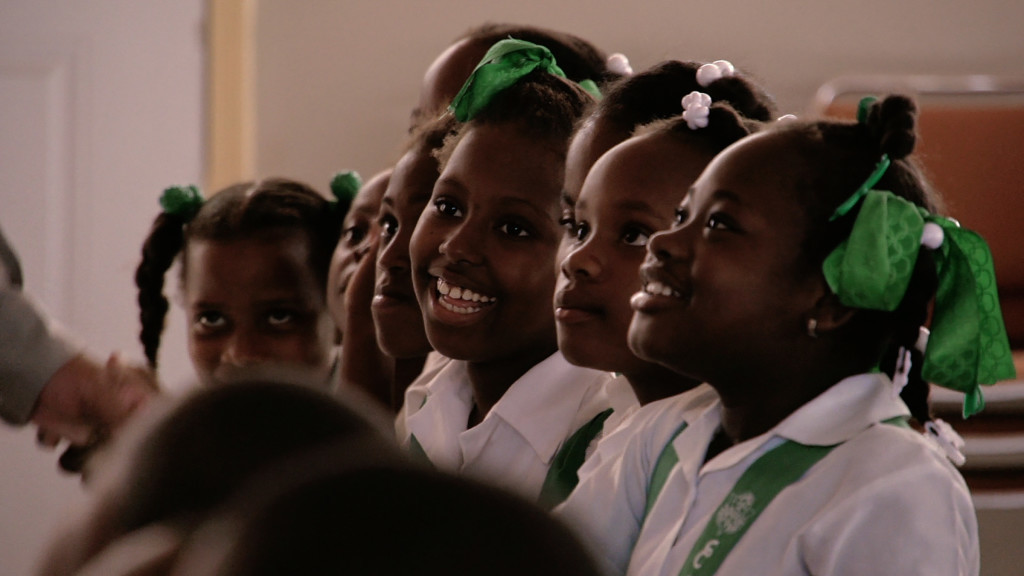 Students at École de Musique Sainte Trinité, from Owsley Brown's Serenade for Haiti