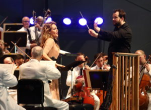 Kristine Opolais performs with Andris Nelsons and the Boston Symphony. Photo Hilary Scott.