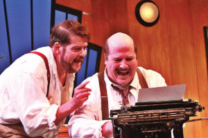 """Paul Romeo and Nathan Stith in Oldcastle Theatre Company's production of """" Moonlight and Magnolias,"""
