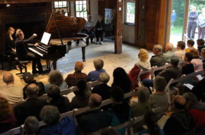 Pierre-Laurent Aimard performs at Pleasant Valley as part of BSO collaboration with Mass Audubon Society. Photo Hilary Scott.