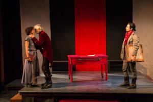 Kate Henning's The Last Wife by WAM: Nehassaiu deGannes as Kate, John Madden as Henry VIII, David Joseph as Thom.