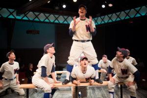 """The Game"": (Left to Right) Baseball Players- Gino Cardoni, Charlie Munday, Jonah Hale, Nathaniel Dolquist, Jayke Workman, Chris Hendricks."