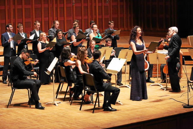 Tanglewood Music Center Vocal Fellow Adriana Velinova, TMC instrumentalists and composer-conductor John Harbison in Cantatas by J. S. Bach