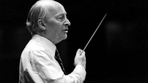 Witold Lutosławski conducting.