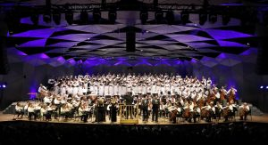 Andris Nelsons, the BSO, TFC, Kristine Opolais, Jonathan Tetelman, Oksana Volkova, and Ryan Speedo Green perform Verdi's Requiem at the Shed. Photo Hilary Scott.