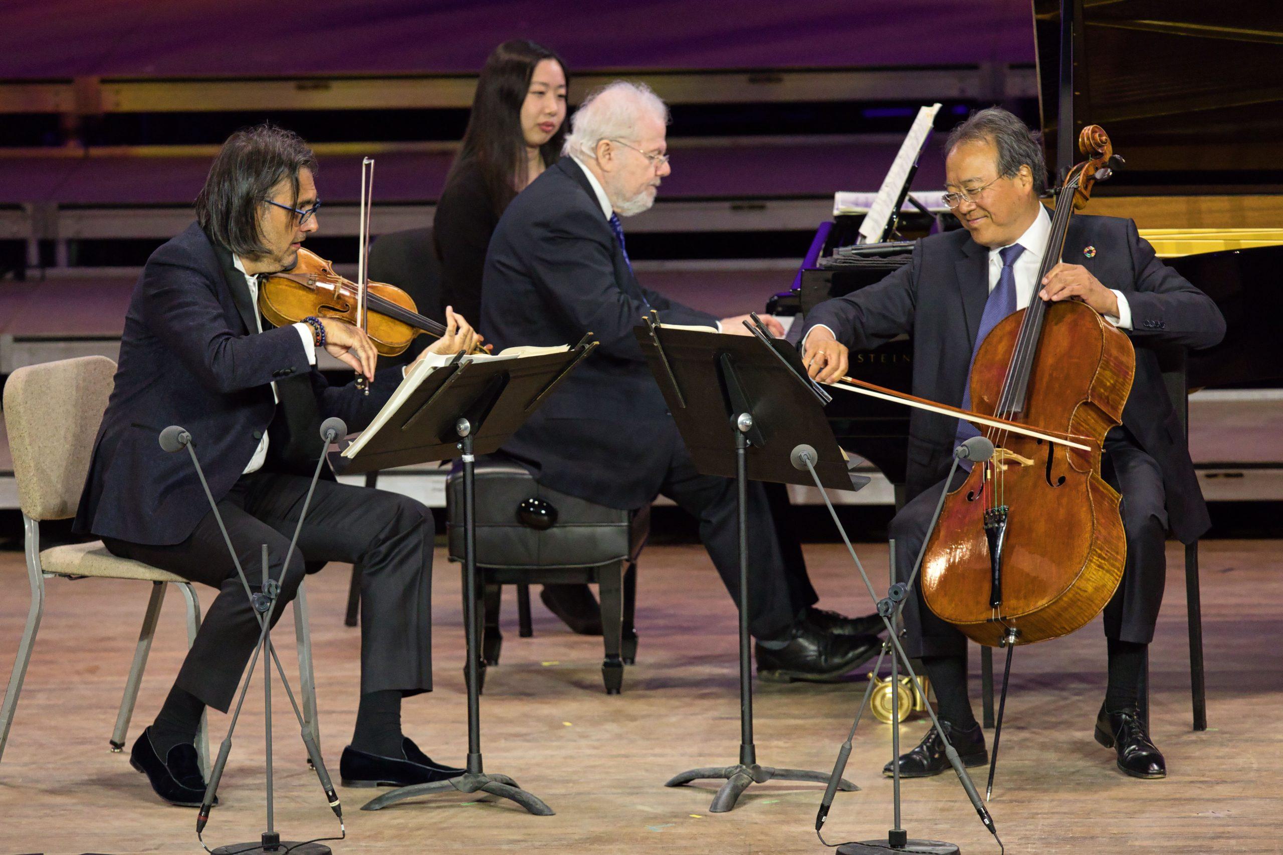 Yo-Yo Ma, Leonidas Kavakos, and Emanuel Ax. Photo Hilary Scott.